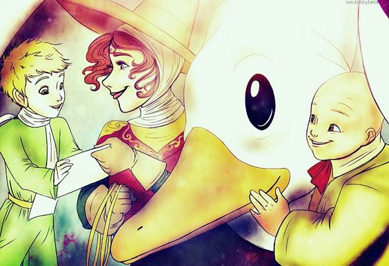Mother Goose and The Little Prince <<<< OMG! I'm so happy that someone did This!!!!