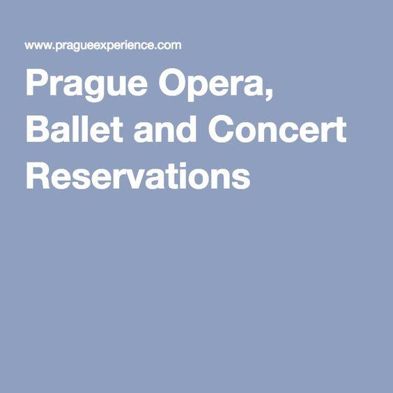 Prague Opera, Ballet and Concert Reservations