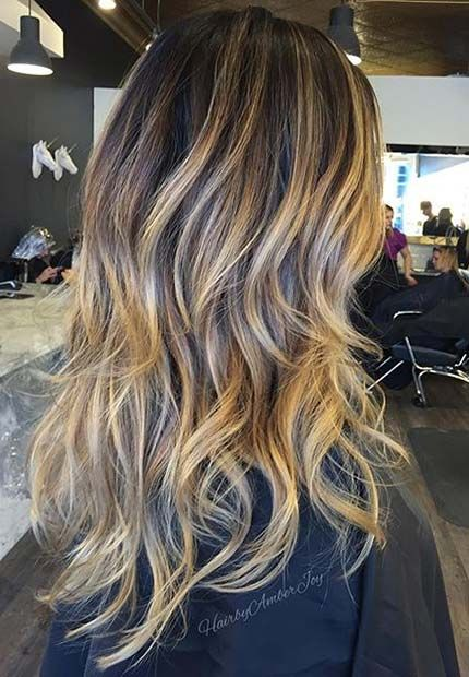 balayage beige caramel. Black Bedroom Furniture Sets. Home Design Ideas