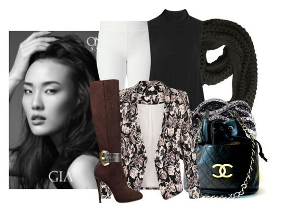 """""""Untitled #9821"""" by pocahaunted666 ❤ liked on Polyvore featuring Joseph, Rick Owens, Chanel and GUESS"""