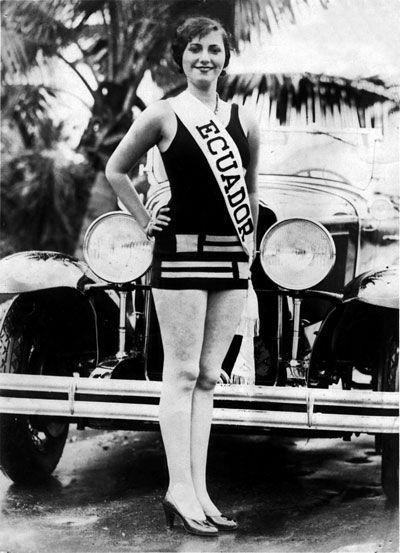 Foto antigua de una miss ecuador