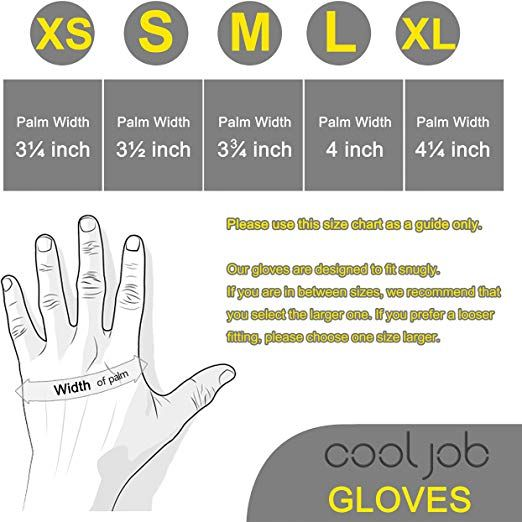 Cooljob Bamboo Working Gloves For Men And Women Nitrile Coated
