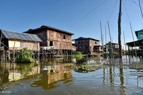floating wooden village Inle Lake Myanmar, Asia. #photo #photographer #photography #getty #images #travel #traveler #inle #inlay #lake #nature #landscape #houseonstilts #colored #burma #asia