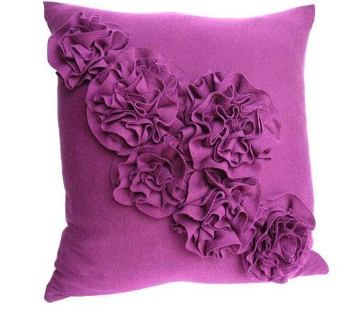 rosette pillow from t-shirt
