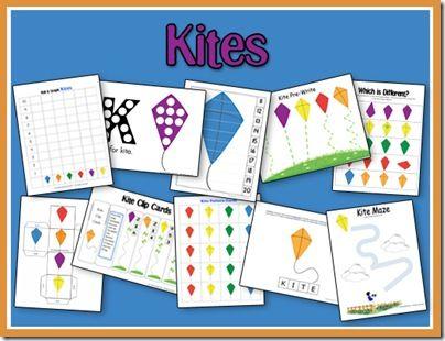 K is for Kite free printable preschool unit from 2TeachingMommies