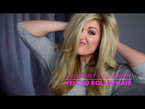 Velcro roller hair tutorial - YouTube