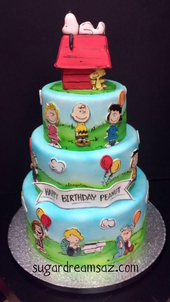 Peanuts-inspired cake