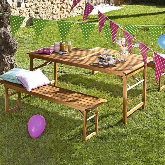 ideas para el jardín decorar una fiesta de cumpleaños #picnic ...
