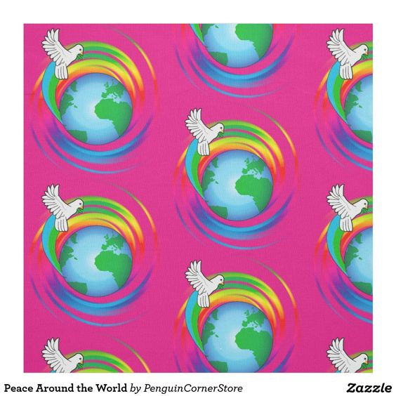 Peace Around the World Fabric