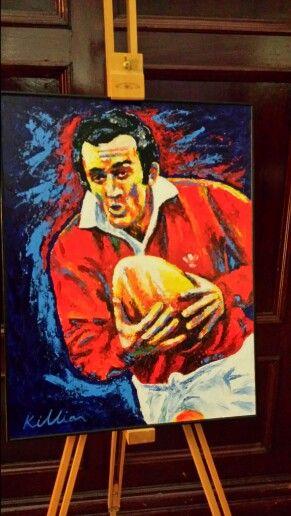 Painting of Phil Bennett