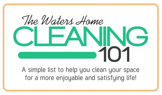 cleaning 101 at www.therefurbishedlife.com | Need to clean up your space but not sure where to start? Let this Waters Home Cleaning 101 give you a jump start on cleaning day!