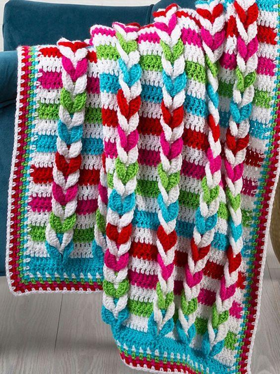 Pulled Taffy Blanket Free Crochet Pattern | Wool Pattern