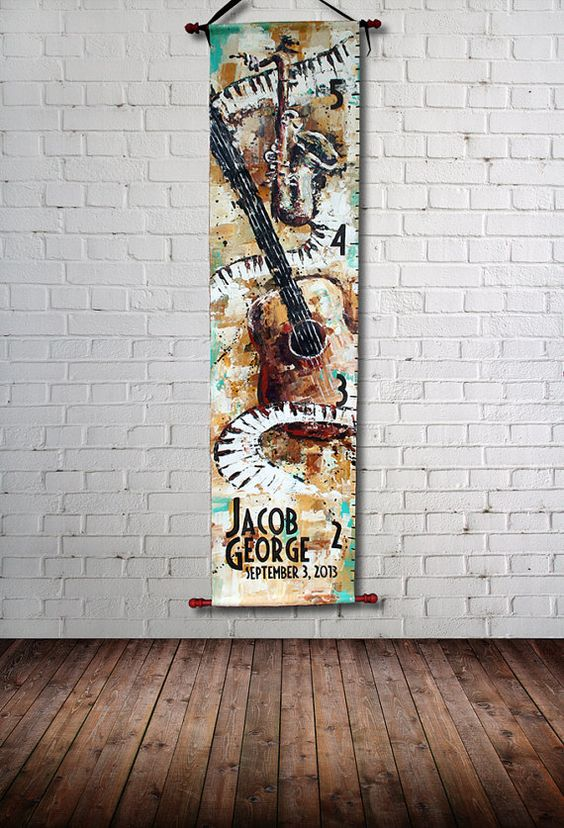 Personalized Canvas Growth Chart Rockstar by SweetDreamMurals
