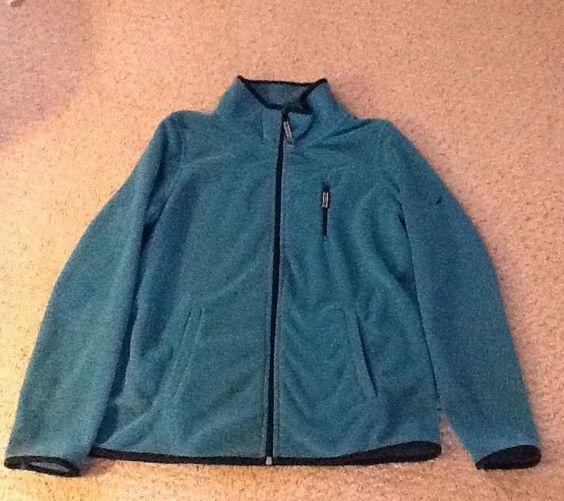 Ladies Nautica Fleece Jacket Sz Small Blue w Black Trim | eBay
