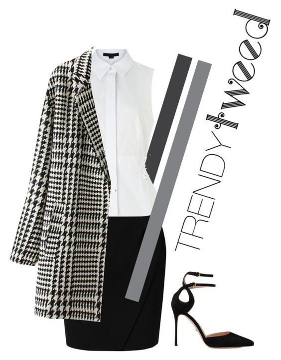 """""""Work tweed"""" by britishpumpkin ❤ liked on Polyvore featuring L.K.Bennett, Alexander Wang, Sergio Rossi, women's clothing, women, female, woman, misses and juniors"""