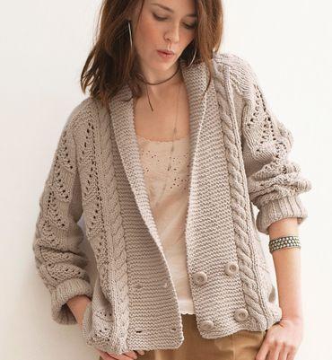 modele tricot femme veste