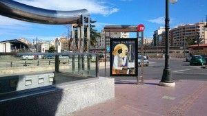 Publicidad mupis Valencia - VENTA DEL PUERTO FALLAS 2015