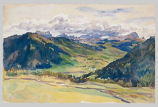 John Singer Sargent - Open Valley, Dolomites: