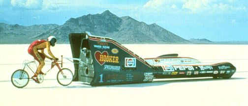 Olympic Cyclist and IRONMAN triathlon winner, John Howard set a 152.2 Miles per Hour speed record at the Bonneville