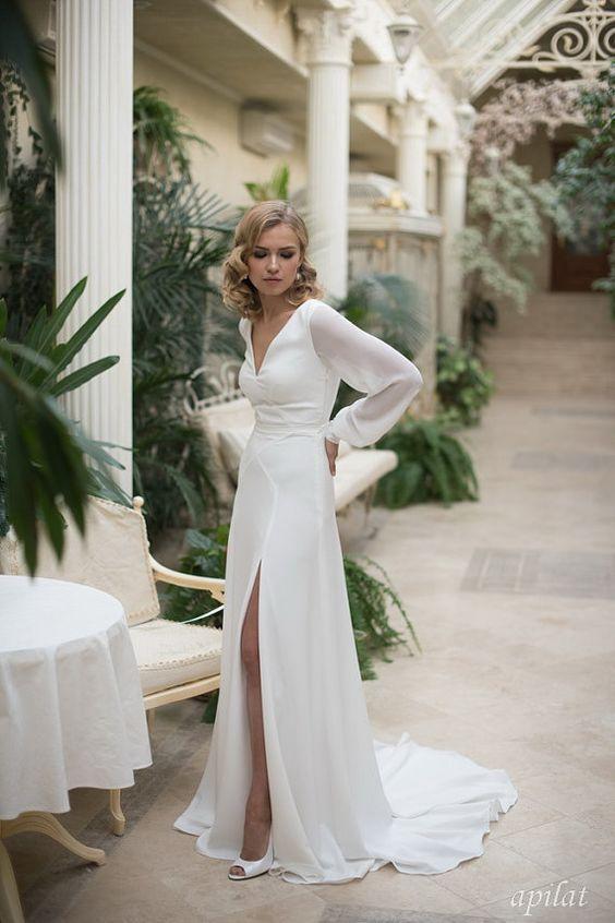 Nikah Elbisesi Modelleri Kadinev Com Sifon Gelinlikler Plaj Dugunu Gelinlikleri The Dress