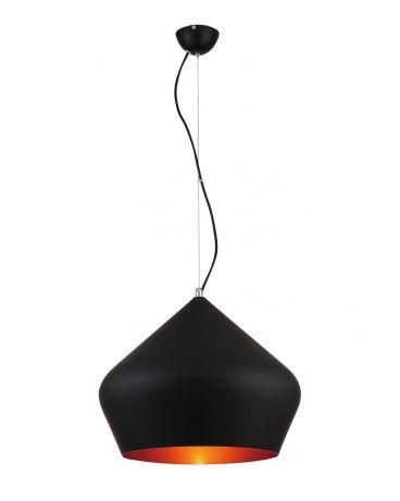 179 zl 40 cmLampa wisząca czarna+złoty BELLO 1L lampa nad stół - technolux design küchen
