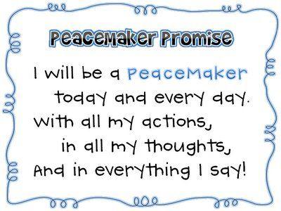Resultado de imagen de peacemakers promise