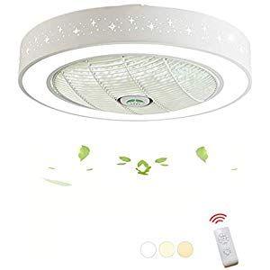 Moderne Fan LED Deckenleuchte Einstellbar Fan
