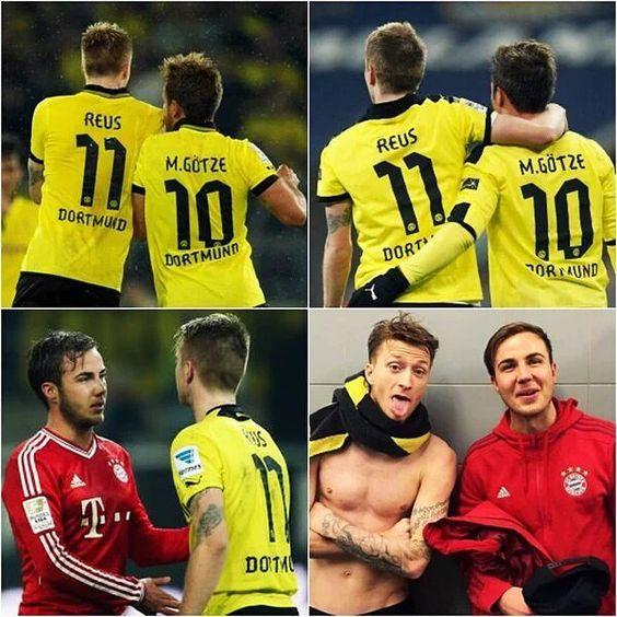 Aunque pasen los años y ahora sean rivales, Götzeus siempre será Götzeus. #HermanosDelFútbol