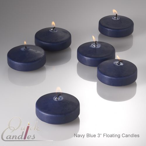 "Set of 12 Navy 3"" Floating Candles Wedding Centerpeice, Reception, Events, Decor | eBay"