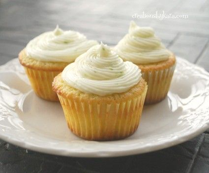 Lime Cupcakes. With lime cream cheese frosting. Because cream cheese makes everything yummier. :)