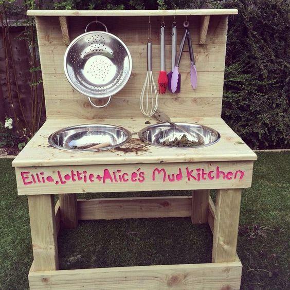 Mud Kitchen Signs: Mud Kitchen Children's Outdoor Garden Wooden Toy In Toys