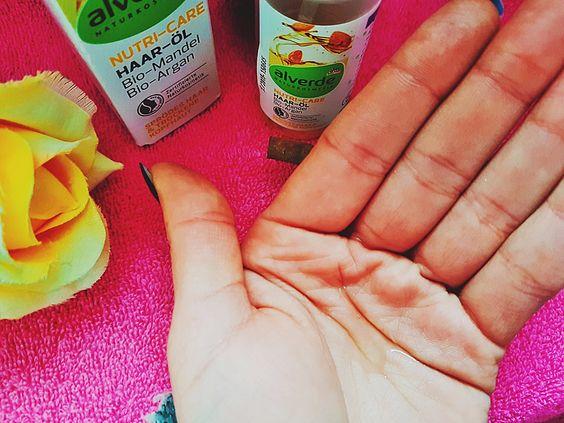 Alverde Haar-Öl mit Bio Mandel und Bio Argan