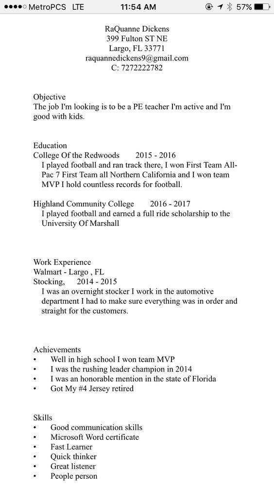 Resume COL 182 Portfolio Pinterest - skills to mention on a resume