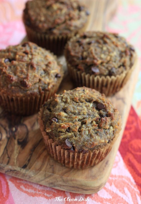 Banana Flax Breakfast Muffins with Chocolate Chips (grain ...