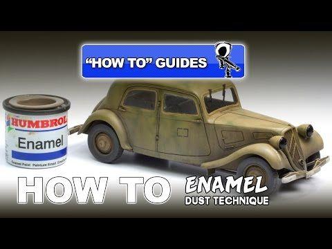Advanced Tips: ENAMEL DUST TECHNIQUE VIDEO tutorial | Plastic Models World