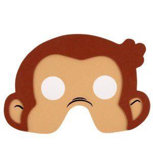 Curious George foam masks :-)