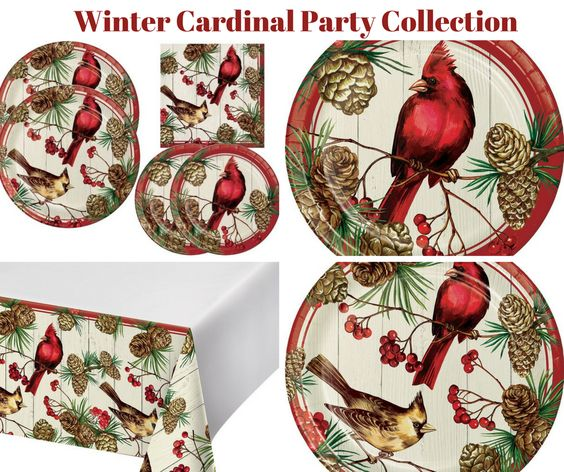 Winter Cardinal Party Banner