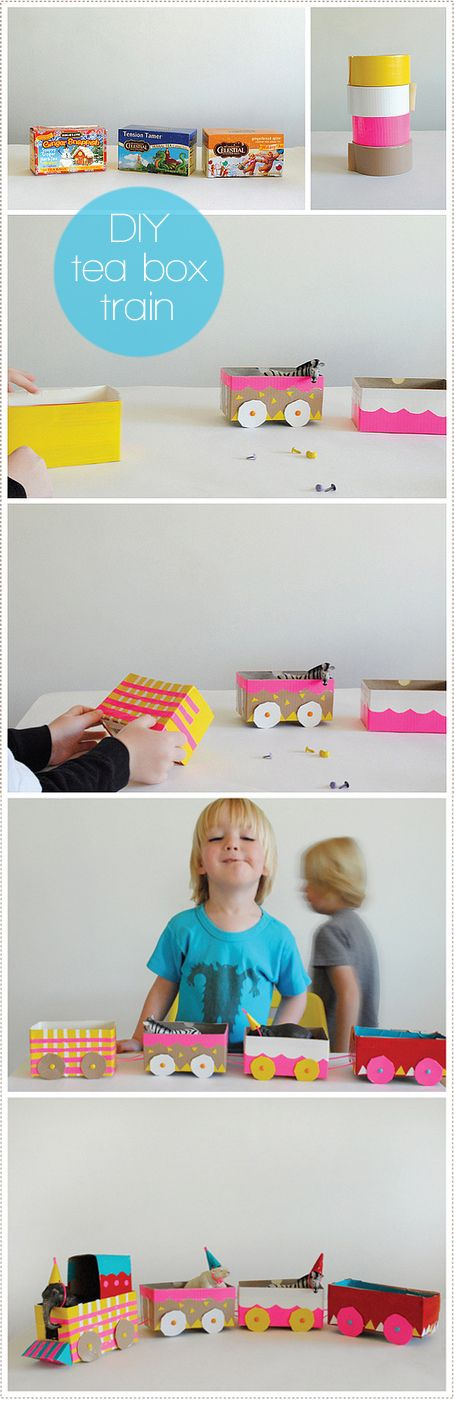 DIY tea box train