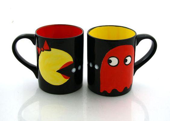 Pac man mugs