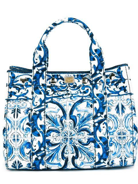 Dolce & Gabbana 'majolica' Print Tote - Cuccuini - Farfetch.com