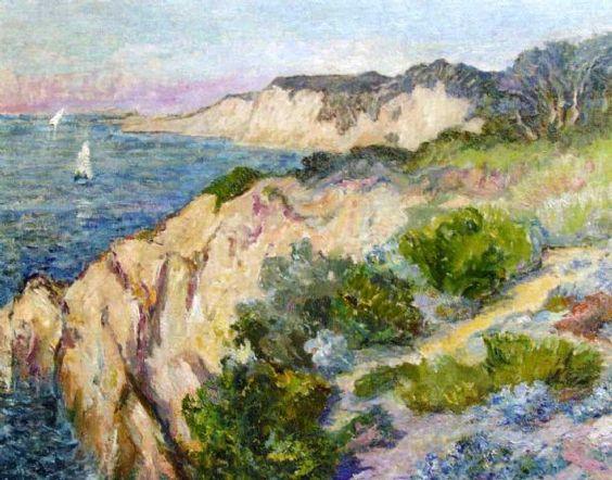 Anna Boch. (Saint-Vaast, Hainaut, 10 de febrero de 1848 - Bruselas, 25 de febrero de 1936)  pintora belga. Côte de Bretagne