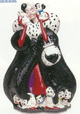 Disney 102 Dalmatians Cruella Cookie Jar  Treasure Craft