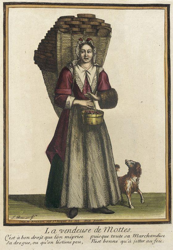Recueil Des Modes De La Cour De France La Vendeuse De Mottes Lacma Collections 1685 18th Century Costume 17th Century Fashion Illustrations Posters