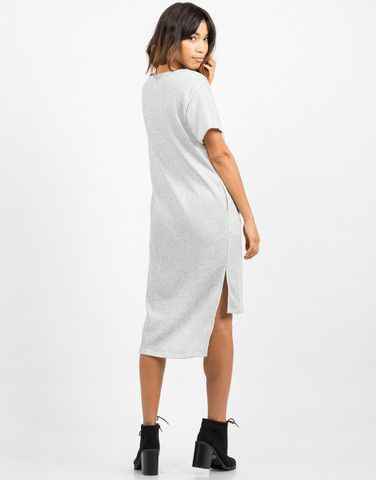 Back View of Hi-Low Sweater Dress