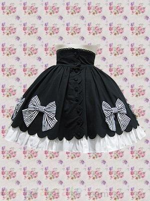 Black Bow Decoration Lolita Skirt Free Shipping - wholesale Lolita Skirts - wholesale Lolita Clothing - CosplayGate.com