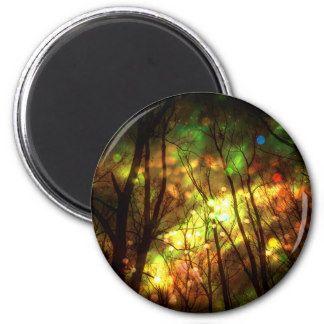 Fantasy Starry Forest 2 Inch Round Magnet