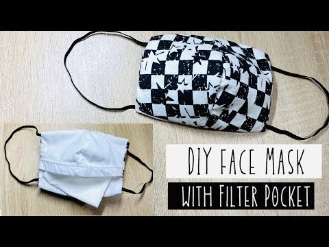 Diy Face Mask With Pocket No Sewing Machine Youtube In 2020