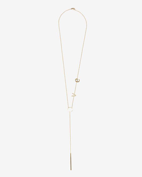INTERMIX Valentine's Day Gift Pick: Jennifer Zeuner LOVE Necklace #intermix #sweepstakes