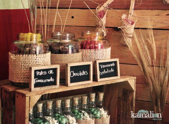Candy bar mesa de dulces postres for Barra bar vintage
