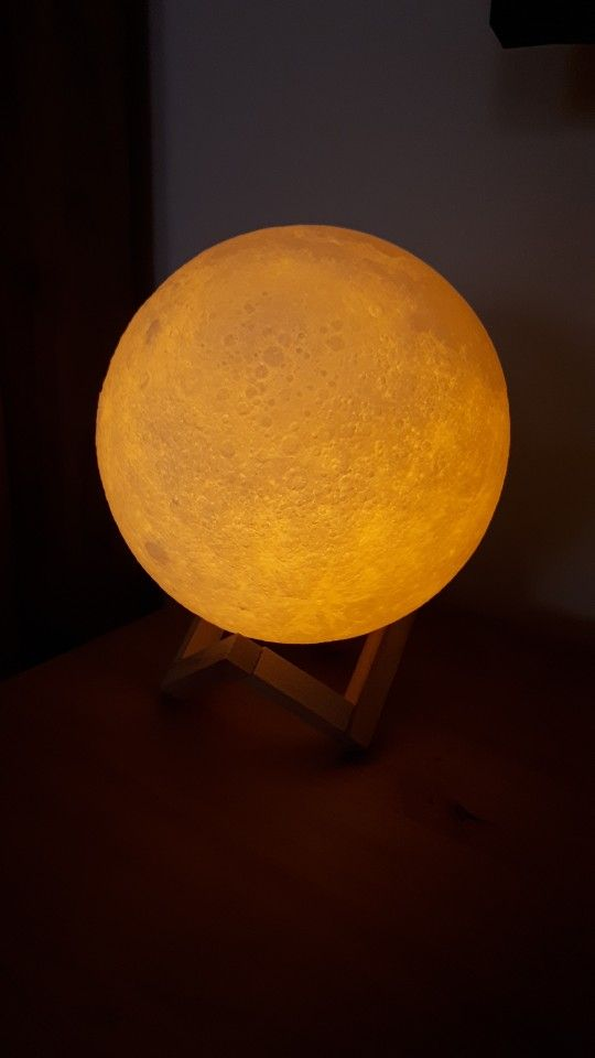Luna Moon Lamp Medium 12 13cm 3d Printed Moon Lamp Etsy In 2020 Biodegradable Products Handmade Lamps Lamp